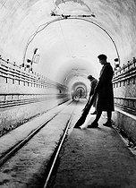 Roger-Viollet | 239890 | World War II. A gallery of the Maginot Line. France, 1939-1940. | © Albert Harlingue / Roger-Viollet