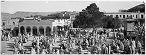 Roger-Viollet | 244601 | Marché arabe dans le sud. Sahara (Algérie), vers 1900. | © Léon & Lévy / Roger-Viollet