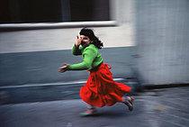 Roger-Viollet | 254522 | Young gipsy girl running in the rue de Titon. Paris (XIth arrondissement), circa 1970. Photograph by Léon Claude Vénézia.$$$ | © Léon Claude Vénézia / Roger-Viollet