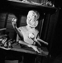 Roger-Viollet | 264498 | Display mannequin in the storeroom of the Galeries Lafayette department store. Paris (IXth arrondissement), 1948. | © Pierre Jahan / Roger-Viollet