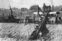 Roger-Viollet | 270068 | Construction of the Suez Canal. Excavator. Egypt, 1859-1869. | © Jacques Boyer / Roger-Viollet