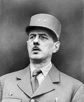 Roger-Viollet | 270184 | World War II. Charles de Gaulle (1890-1970), French General, 1944. | © LAPI / Roger-Viollet