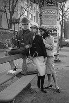 Roger-Viollet | 290119 | Women's fashion. Suits. February 1960. | © Bernard Lipnitzki / Roger-Viollet