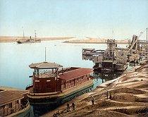 Roger-Viollet | 296202 | Entrance of the Suez Canal. Port (Egypt), circa 1880-1890. | © Roger-Viollet / Roger-Viollet