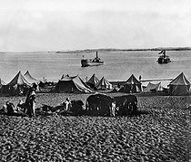 Roger-Viollet | 305830 | Inauguration of the Suez Canal (Egypt). Camp. 1869. | © Roger-Viollet / Roger-Viollet