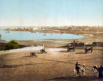 Roger-Viollet | 311392 | View of Suez (Egypt), from the fort. Circa 1880-1890. | © Roger-Viollet / Roger-Viollet