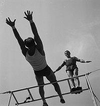 Roger-Viollet | 338970 | Circus : Clérans, funambulists and acrobats. France, circa 1936 | © Gaston Paris / Roger-Viollet