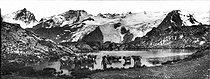Roger-Viollet | 344598 | La Grave (Upper-Alps). The glacier of the Mont-de-Lans (Isère). View from the plateau of En, Paris (Upper-Alps). About 1900. | © Léon & Lévy / Roger-Viollet