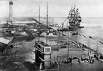 Roger-Viollet | 351402 | Entrance of the Suez Canal. Port Said (Egypt), 1869 | © Roger-Viollet / Roger-Viollet