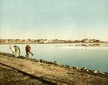 Roger-Viollet | 367752 | View from the dike. Suez (Egypt), circa 1880-1890. | © Roger-Viollet / Roger-Viollet