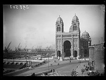 Roger-Viollet | 369413 | The Notre-Dame la Major cathedral (1852-1872). Marseille (Bouches-du-Rhône, France), November 1938. Photograph from the French newspaper  Excelsior . | © Excelsior - L'Equipe / Roger-Viollet