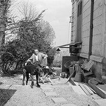 Roger-Viollet | 389832 | Louis-Ferdinand Céline (1894-1961), French writer. Meudon, about 1955. | © Bernard Lipnitzki / Roger-Viollet