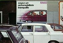 Roger-Viollet | 396998 | Advertising poster for Renault. Paris, 1970's. Photograph by Léon Claude Vénézia (1941-2013). | © Léon Claude Vénézia / Roger-Viollet