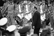 Roger-Viollet | 410032 | François Mitterrand (1916-1996), President of the French Republic, during an official visit at the Mont Valérien (France), on June 18, 1981. | © Jean-Régis Roustan / Roger-Viollet