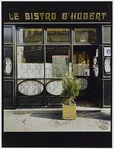 Roger-Viollet | 413387 |  Le Bistro d'Hubert,  36 place du marché Saint-Honoré. Paris (Ist arrondissement), 1981. Photograph by Felipe Ferré. Paris, musée Carnavalet. | © Felipe Ferré / Musée Carnavalet / Roger-Viollet