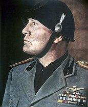 Roger-Viollet | 421603 | Benito Mussolini (1883-1945), Italian politician, 1940. | © Roger-Viollet / Roger-Viollet