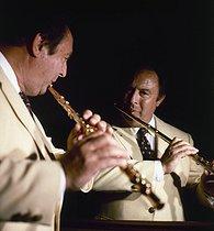 Roger-Viollet | 431098 | Jean-Pierre Rampal (1922-2000), French flautist. New York City (United States), 1990. | © Kathleen Blumenfeld / Roger-Viollet