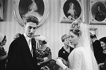 Roger-Viollet | 431907 | Wedding of Princess Diane and Duke Karl of Württemberg. Alsthausen (Germany), on July 22, 1960. | © Bernard Lipnitzki / Roger-Viollet