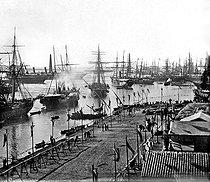 Roger-Viollet | 432605 | Inauguration of the Suez Canal (Egypt), 1869. | © Léon & Lévy / Roger-Viollet