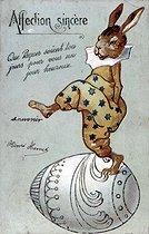 Roger-Viollet | 436282 | Easter. Fancy postcard. Beginning of the XXth century. | © Roger-Viollet / Roger-Viollet