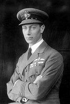 Roger-Viollet | 446523 | Duke of York (future George VI of England), at the time of his engagement with Elizabeth Bowes, 1923. | © Albert Harlingue / Roger-Viollet