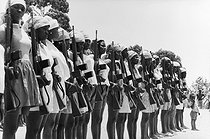 Roger-Viollet | 454084 | Parade of recruits of the People's Movement for the Liberation of Angola. Angola (Black Africa), 1975. | © Françoise Demulder / Roger-Viollet