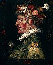 Roger-Viollet | 463314 | Guiseppe Arcimboldo (c.1527-1593). Spring. Paris, Louvre museum. | © Roger-Viollet / Roger-Viollet