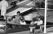 Roger-Viollet | 466780 | Maria Callas aboard Aristotelis Onassis' yacht  Christina , with her husband, G.B. Meneghini. From behind, left to right: Aristotelis Onassis, Winston Churchill and Tina Onassis. Monaco (Principality of Monaco), on July 23, 1959. | © Bernard Lipnitzki / Roger-Viollet