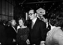 Roger-Viollet | 487752 | Bernadette et Jacques Chirac à l'inauguration du Centre Georges Pompidou (Beaubourg). Paris, 31 janvier 1977. | © Jean-Pierre Couderc / Roger-Viollet