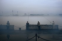 Roger-Viollet | 496882 | Along the Yenisei River. Krasnoyarsk (Siberia, Russia), 1993. | © Jean-Paul Guilloteau / Roger-Viollet
