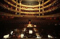 Roger-Viollet | 497620 | The orchestra pit of the Opéra Garnier. Paris, 1983. | © Jean-Pierre Couderc / Roger-Viollet