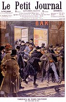 Roger-Viollet | 498458 | Raid of apaches in a bar in Paris.  Le Petit Journal , March 3, 1907. | © Roger-Viollet / Roger-Viollet