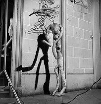 Roger-Viollet | 518130 | Storeroom of the Galeries Lafayette department store. Paris (IXth arrondissement), 1948. | © Pierre Jahan / Roger-Viollet