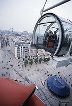 Roger-Viollet | 522806 | The Pompidou Centre, Beaubourg. Paris (IVth arrondissement), 1977. | © Jean-Pierre Couderc / Roger-Viollet