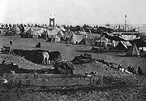Roger-Viollet | 529448 | Inauguration of Suez canal (Egypt). Encampment, 1869. | © Léon & Lévy / Roger-Viollet