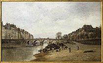 Roger-Viollet | 545132 | Quai de la Seine et le Pont-Marie | © Roger-Viollet / Roger-Viollet