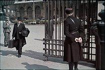 Roger-Viollet | 549769 | World War II. The gare de l'Est. Paris, 1943. Photograph by André Zucca (1897-1973). Bibliothèque historique de la Ville de Paris. | © André Zucca / BHVP / Roger-Viollet