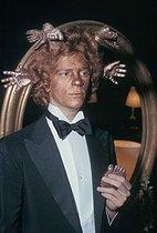 Roger-Viollet | 564573 | François-Marie Banier (born in 1947), French writer and photographer, attending the Rothschild surrealistic party. Château de Ferrières (France), on December 12, 1972. | © Jack Nisberg / Roger-Viollet