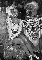 Roger-Viollet | 578091 | Josephine Baker (1906-1975), American variety artist. Milan (Italy), Lyric Theatre. | © Albert Harlingue / Roger-Viollet