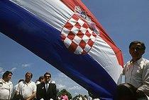 Roger-Viollet | 583812 | 120th anniversary of the birth of Stjepan Radic (1871-1928), Croation nationalist politician. Trebarjevo (Croatia, Yugoslavia), June 9, 1991. | © Jean-Paul Guilloteau / Roger-Viollet