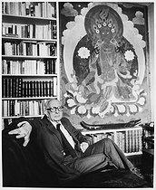 Roger-Viollet | 586525 | Claude Levi-Strauss (1908-2009), French anthropologist, ethnologist and philosopher, at home. Paris, September 1985. | © Bruno de Monès / Roger-Viollet