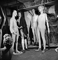Roger-Viollet | 590744 | Display mannequins in the storeroom of the Galeries Lafayette department store. Paris (IXth arrondissement), 1948. | © Pierre Jahan / Roger-Viollet