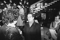 Roger-Viollet | 602055 | Robert Boulin case. Maitre Vergès (1925-2013), French lawyer. Versailles (France), on January 17, 1984. | © Jean-Régis Roustan / Roger-Viollet