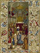 Roger-Viollet | 604036 | Coronation of Louis XII in Reims (1498), according to a painting. Paris, museum of Cluny. | © Roger-Viollet / Roger-Viollet