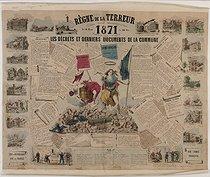 Roger-Viollet | 605940 |  Règne de la Terreur  (the Reign of Terror): decrees and latest documents about the Paris Commune (1871): civil war, insurrection of Paris, ruins of Paris, March 18-28, 1871 | © BHVP / Roger-Viollet