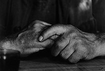 Roger-Viollet | 611471 | Hands of a farmer from the Corrèze region (France), 1965-1967. Photograph by Jean Marquis (1926-2019). | © Jean Marquis / Roger-Viollet