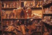 Roger-Viollet | 623076 | Wax figures workshop at the Grévin museum. Paris (IXth arrondissement), 1980. | © Jean-Pierre Couderc / Roger-Viollet