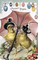Roger-Viollet | 634540 | Easter. Fancy postcard. Beginning of XXth century. | © Roger-Viollet / Roger-Viollet