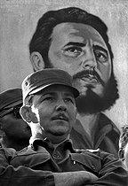 Roger-Viollet   654916   Raúl Castro (born in 1931), Cuban politician. Cuba, circa 1960.   © Gilberto Ante / Roger-Viollet