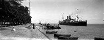 Roger-Viollet | 659519 | The  SS Macedonia  leaving the Suez Canal (Egypt). | © Léon & Lévy / Roger-Viollet